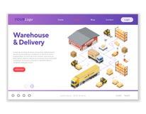 Stoccaggio del magazzino e consegna Infographics isometrico Fotografie Stock