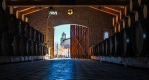 Stoccaggio del vino Fotografie Stock