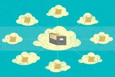 Stoccaggio della nuvola illustrazione vettoriale