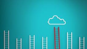 Stoccaggio della nuvola Fotografia Stock