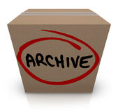 Stoccaggio di archivio record della scatola di cartone dell'archivio fatto i bagagli messo via illustrazione vettoriale