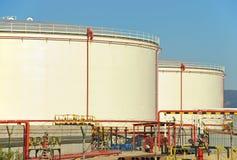 Stoccaggio di petrolio Immagine Stock