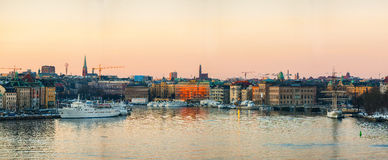 Stoccolma da acqua Fotografia Stock