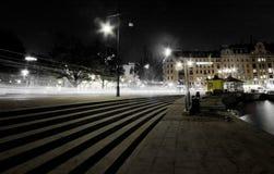 Stoccolma entro la notte Fotografia Stock