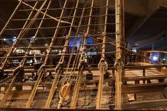 STOCCOLMA - 6 GENNAIO: Nave da guerra del XVII secolo dei vasi salvata da Immagine Stock Libera da Diritti