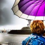 Stoccolma il giorno piovoso Fotografia Stock Libera da Diritti