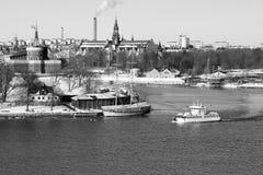 Stoccolma in inverno Immagini Stock Libere da Diritti