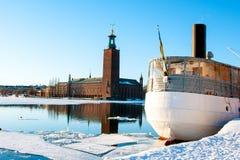 Stoccolma in inverno Fotografia Stock