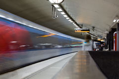 STOCCOLMA 24 LUGLIO: Stazione della metropolitana a Stoccolma Fotografia Stock