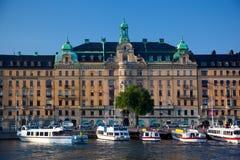 Stoccolma, Svezia in Europa. Vista di lungomare Immagini Stock Libere da Diritti