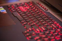 Stoccolma, Svezia: 21 febbraio 2017 - tastiera del computer portatile di gioco Fotografia Stock Libera da Diritti