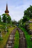 Stoccolma, Svezia, trasporto funicolare Fotografie Stock Libere da Diritti