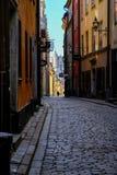 Stoccolma, Svezia, turista di camminata Fotografia Stock Libera da Diritti