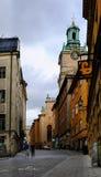 Stoccolma, Svezia, turisti che camminano in Gamla Stan Fotografia Stock