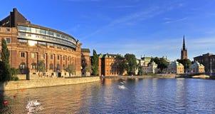 Stoccolma, Svezia - vecchio quarto Gamla Stan della città con la Camera di PA Fotografia Stock