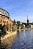 Stoccolma, Svezia - vecchio quarto Gamla Stan della città con la Camera di PA Immagini Stock