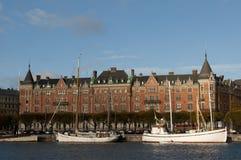 Stoccolma, Svezia. Vista della via. Immagine Stock Libera da Diritti
