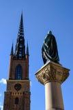 Stoccolma, Svezia, vista di Riddarholmskyrkan Fotografie Stock Libere da Diritti