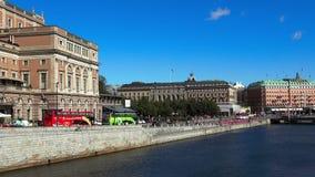 stoccolma Vecchia città Architettura, vecchie case, vie e vicinanze stock footage