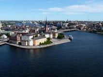 Stochkolm - uma vista de acima Fotografia de Stock Royalty Free