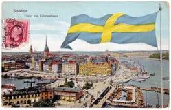 Stocholm Retro- Postkarte Stockbild