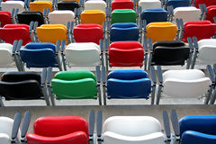 Stock_00001. Chairs from a football stadium Stock Photography