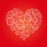Stock  abstract isolated heart. card, poster, banner templ Stock Photography