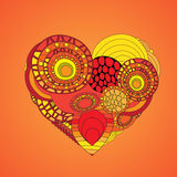 Stock  abstract isolated heart. card, poster, banner templ. Ate illustration Stock Photos