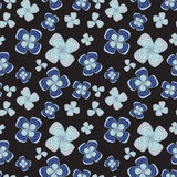Stock  abstract seamless  doodle pattern with flowers and Royalty Free Stock Images