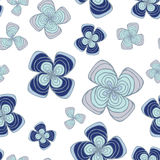 Stock  abstract seamless  doodle pattern with flowers and Royalty Free Stock Photos