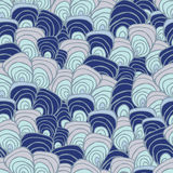 Stock  abstract seamless  doodle pattern with  waves. orie Stock Photo