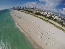 Stock aerial photo of Miami Beach Royalty Free Stock Photos