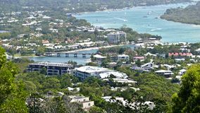 Stock aerial picture image of Noosa Sound Stock Photo