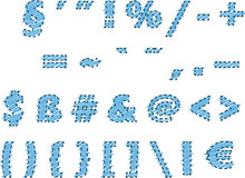 Stock  of alphabet with dashed outline Stock Image