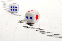 Stock analysts and financial risks. Stock Photography