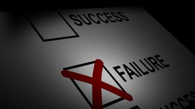Stock Animated Concept of Success and Failure Royalty Free Stock Photos