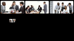 Stock animation presenting the concept of teamwork stock footage