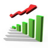 Stock arrow going up Stock Photos