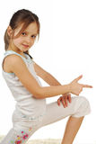 Stock avbildar av lycklig flicka, isolerat på vit Fotografering för Bildbyråer
