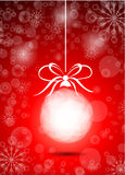 Beautiful christmas red ball Stock Images