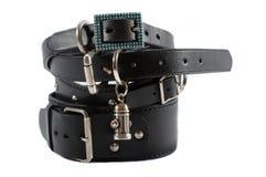 Stock of black dog collars