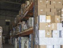 Stock book warehouse Stock Image