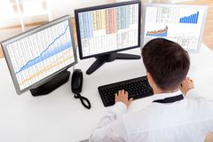 Free Stock Broker Trading In A Bull Market Royalty Free Stock Images - 28845759