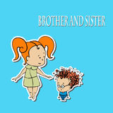 Stock Brother And Sister Greetings Stock Image