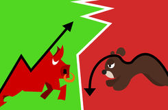 Stock bull and bear. The stock Stock Images