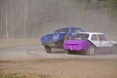Stock car race Stock Image