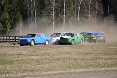 Stock car race Stock Image