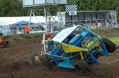 Stock car race. During a stock car competition at bad weather stock photography