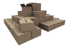 Stock of Cardboard Royalty Free Stock Photo