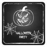 Stock  cards template for Halloween party. Hand drawing pumpkin Stock Photos